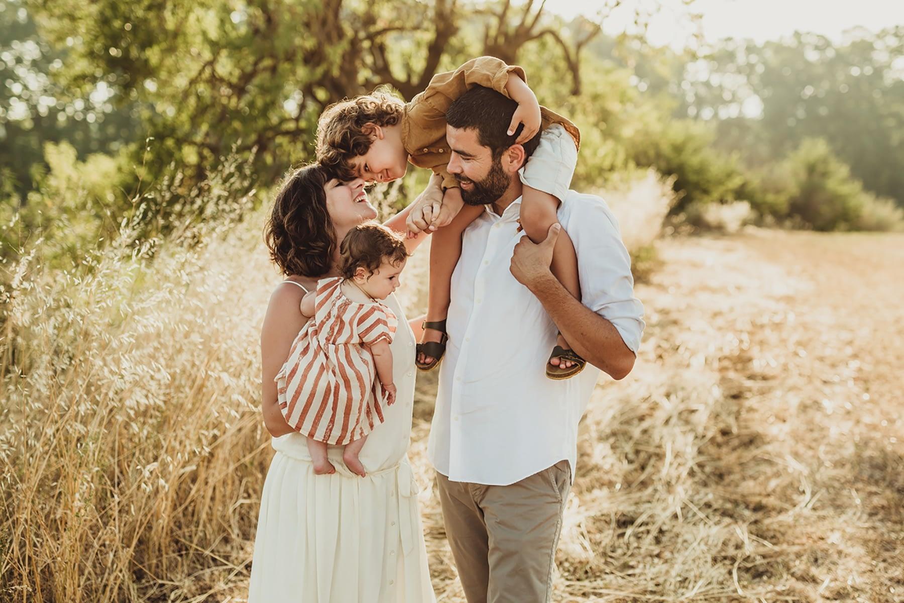 fotografía familias Barcelona